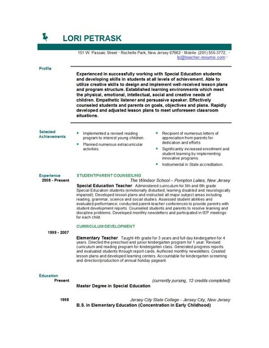 Resume Teaching Objective. objectives in resume career change ...
