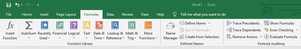 Excel insert functions dialog Box