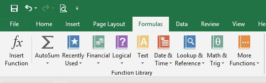 Function libraries in Excel