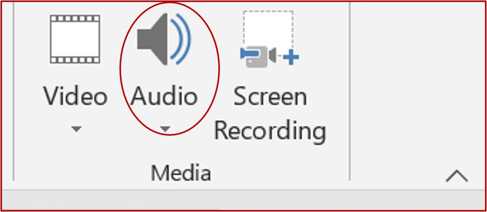 audio button in media group