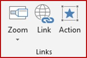 powerpoint links options