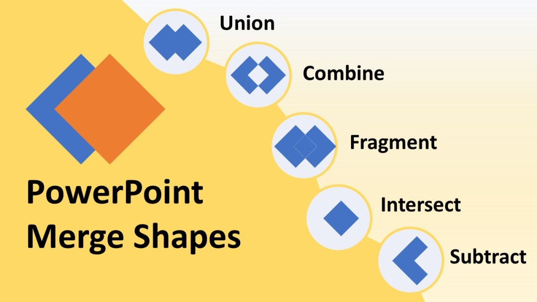 powerpoint merge shapes