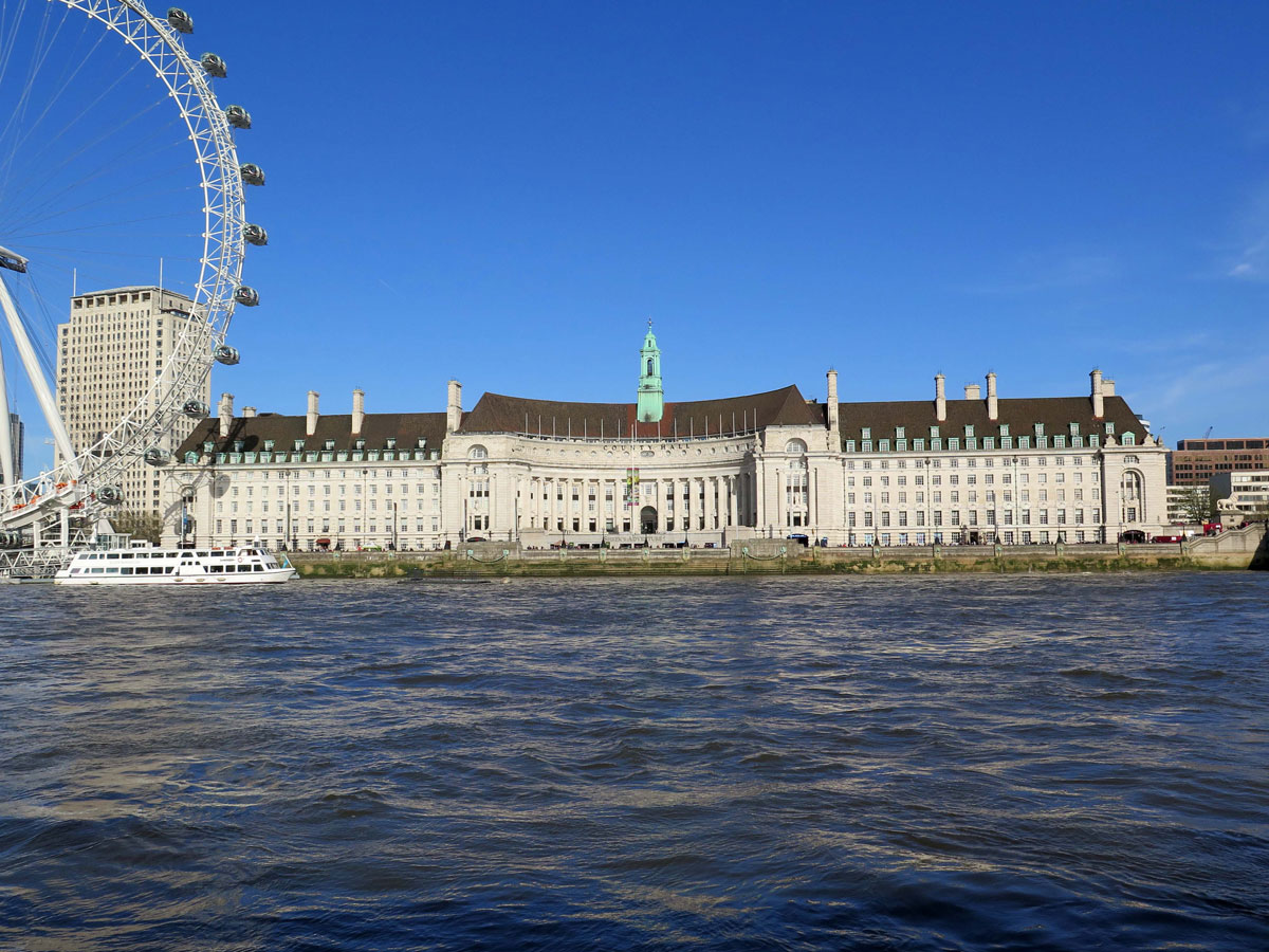 County Hall from Westminster Pier