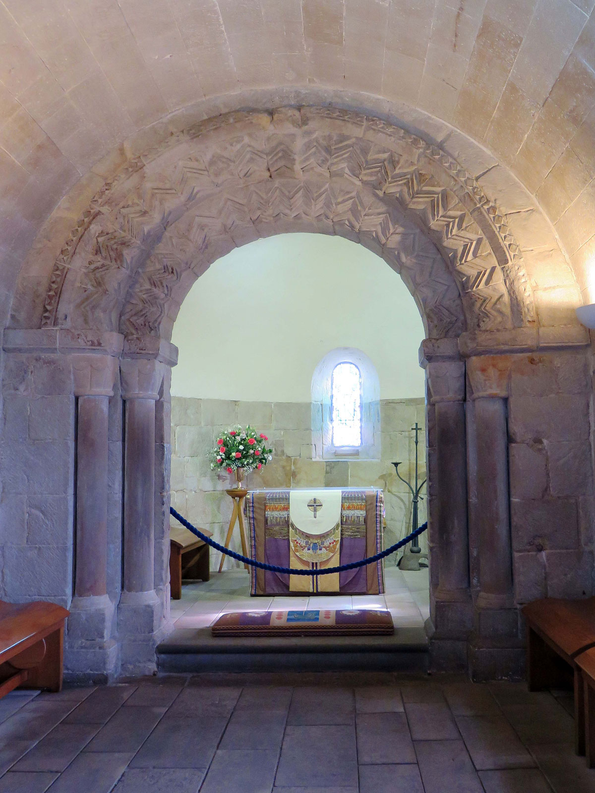 Inside St Margaret's Chapel