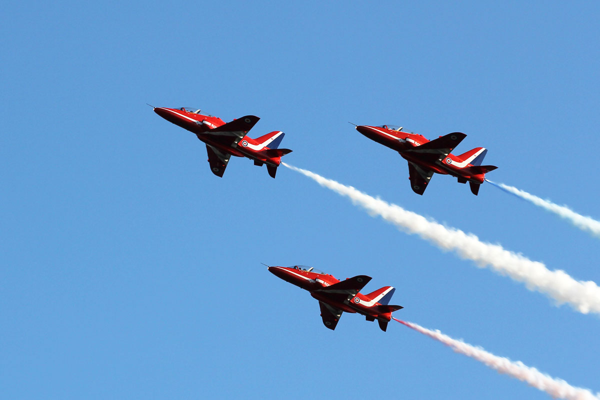 The Red Arrows at Torbay Air Show