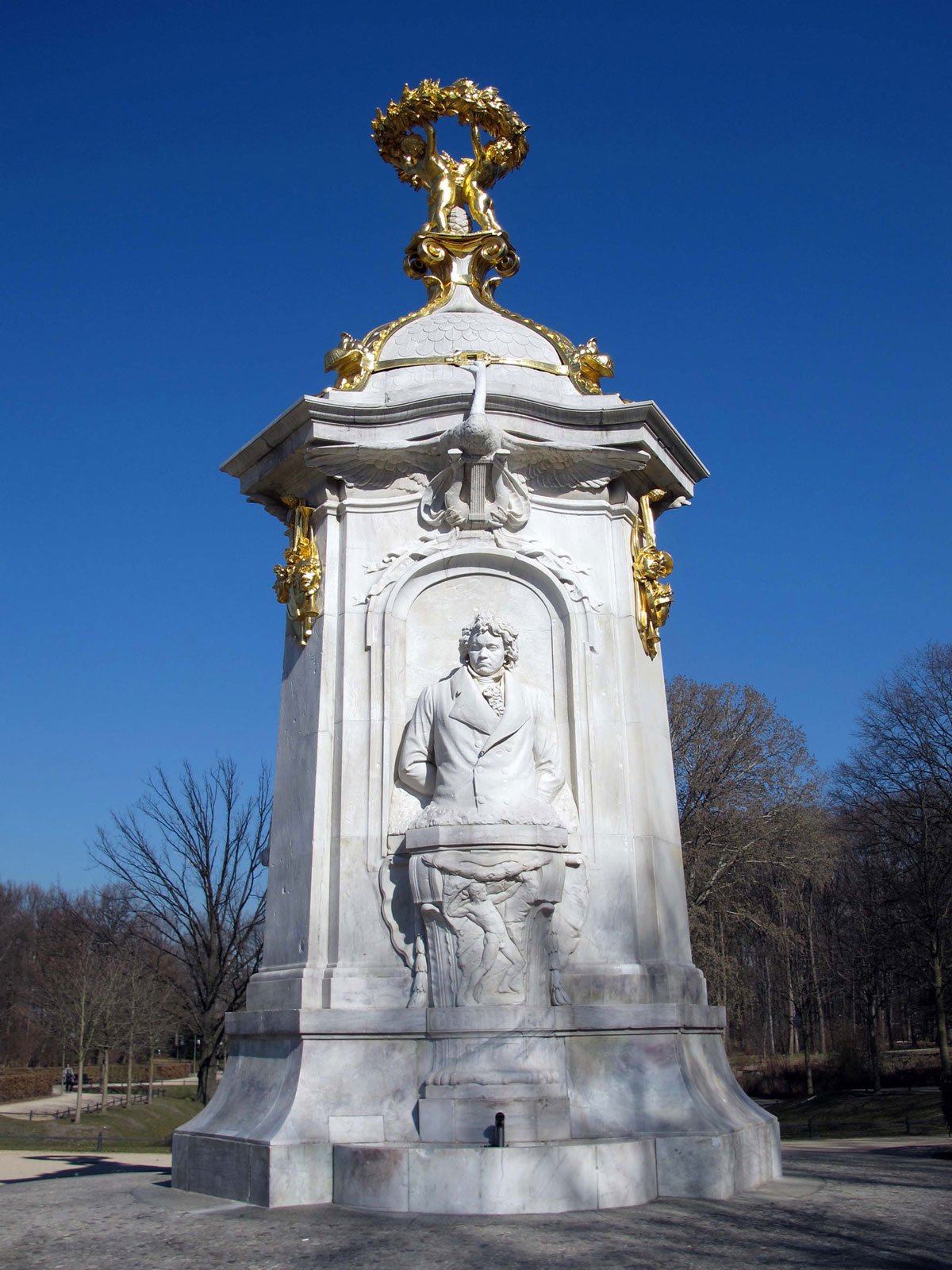 Composer Memorial Statue showing Beethoven