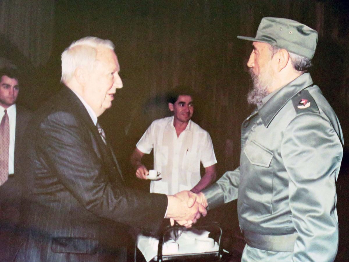 Edward Heath with Fidel Castro