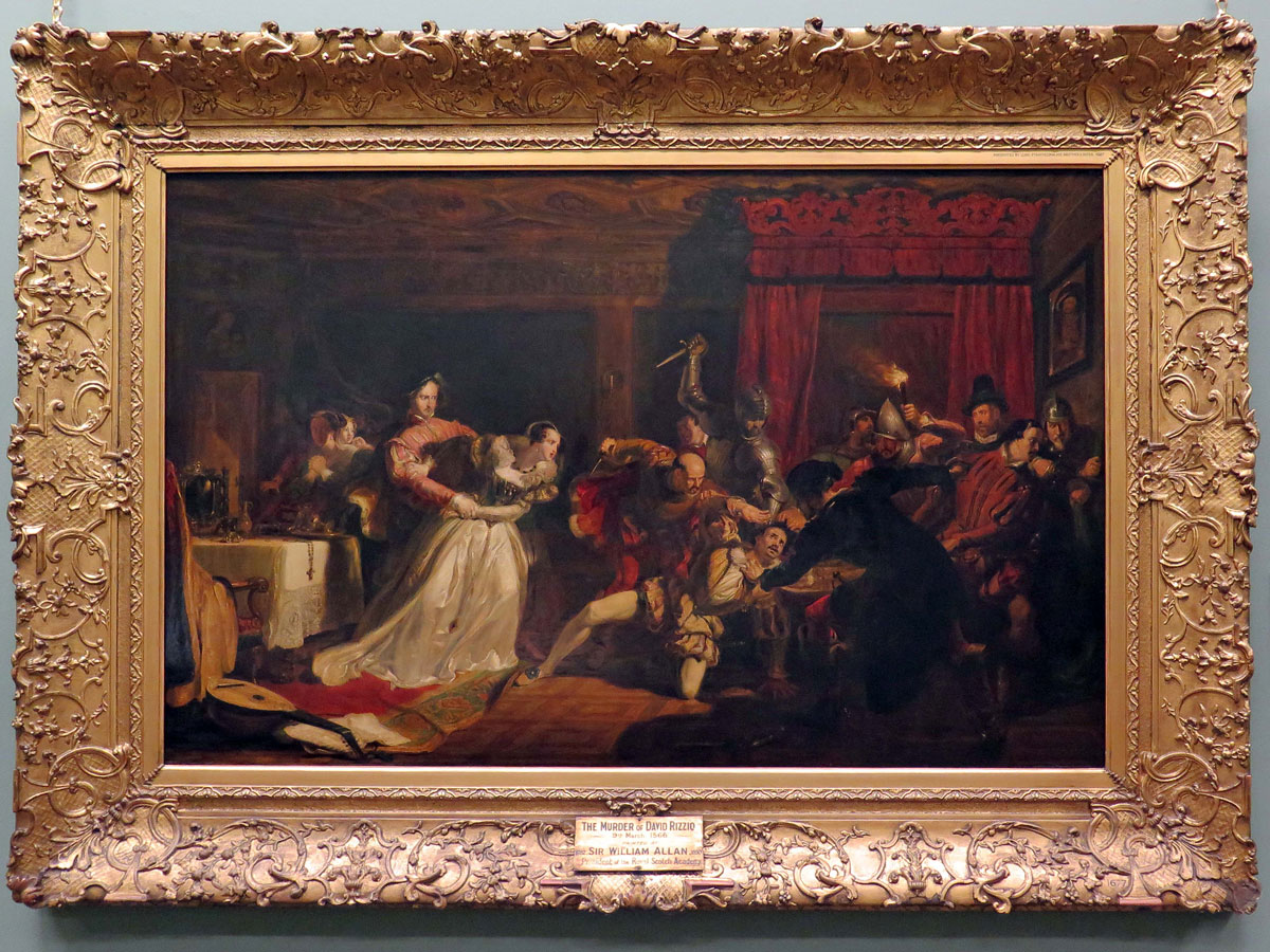The Murder of David Rizzio by William Allen (1833) in the Scottish National Gallery