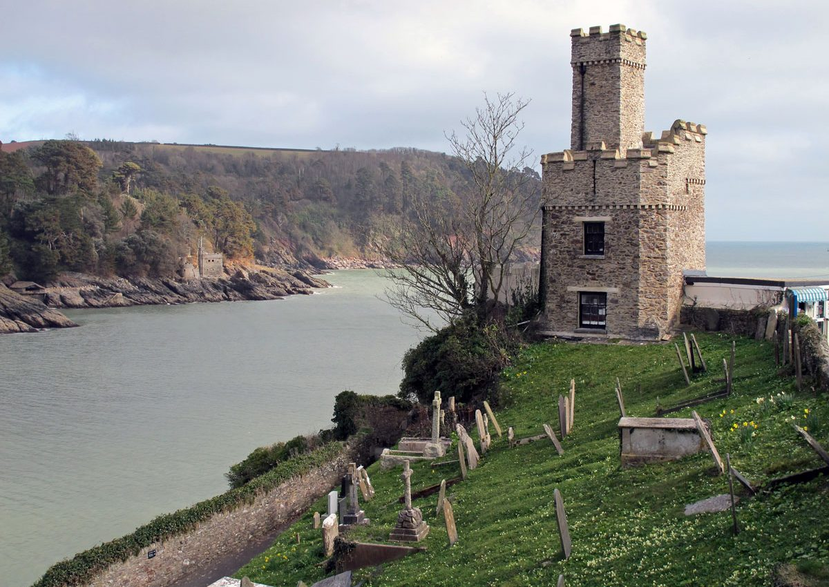 Dartmouth Castle with Kingswear Castle across the river