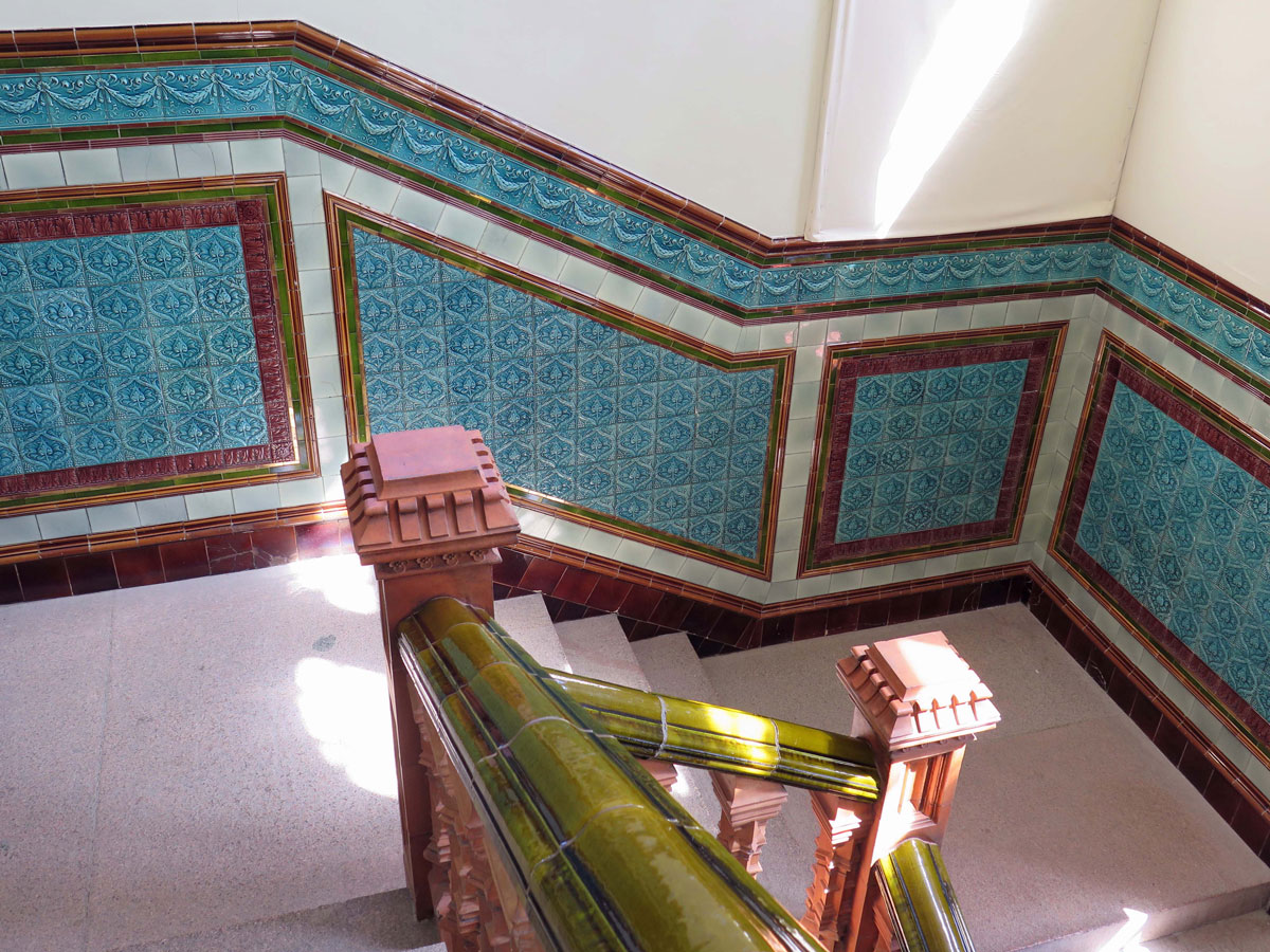 Glazed Tiles inside the Pierhead Building