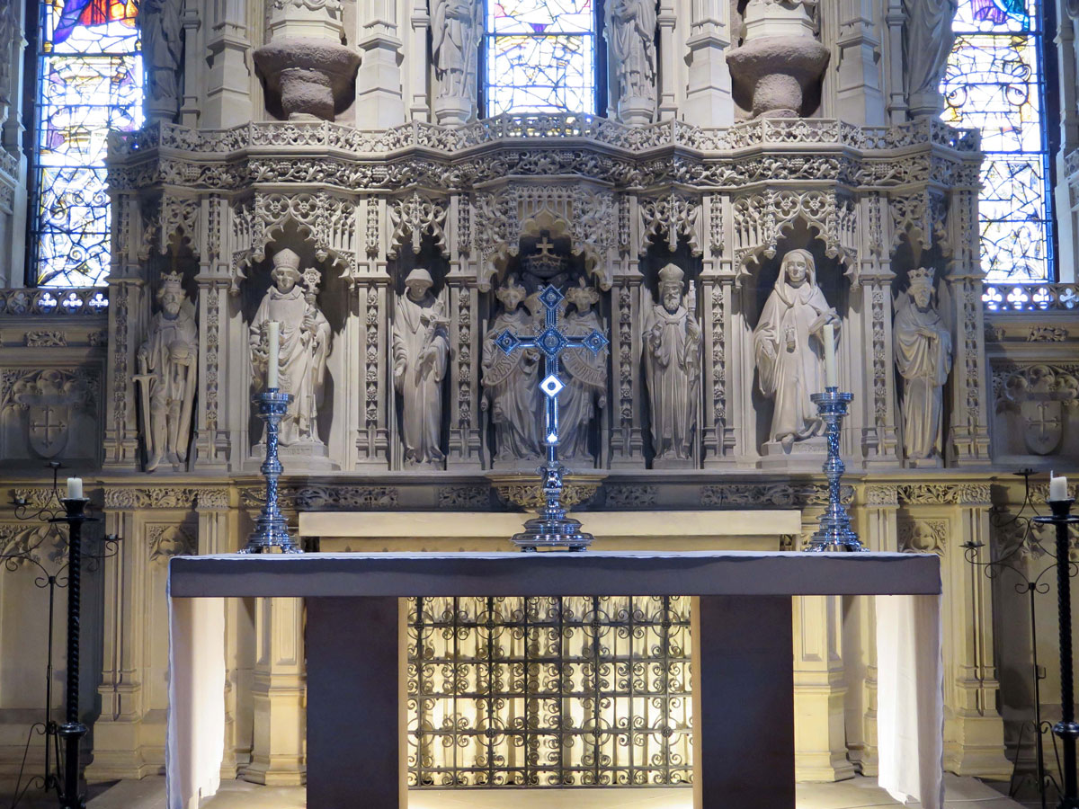 The Chancel inside St. Aidan's