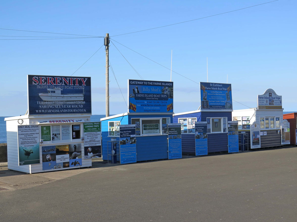 The Boat Kiosks at Seahouses