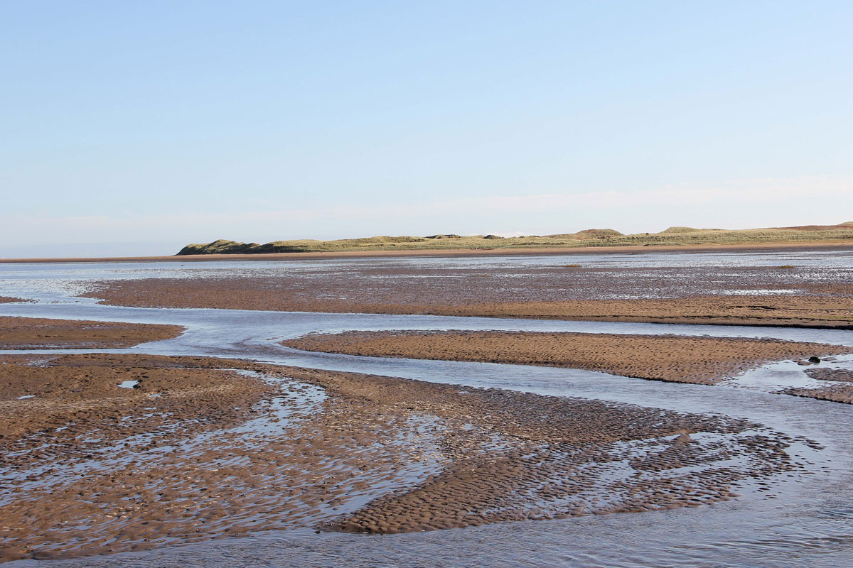 The view across the Sand Flats towards Guile Point