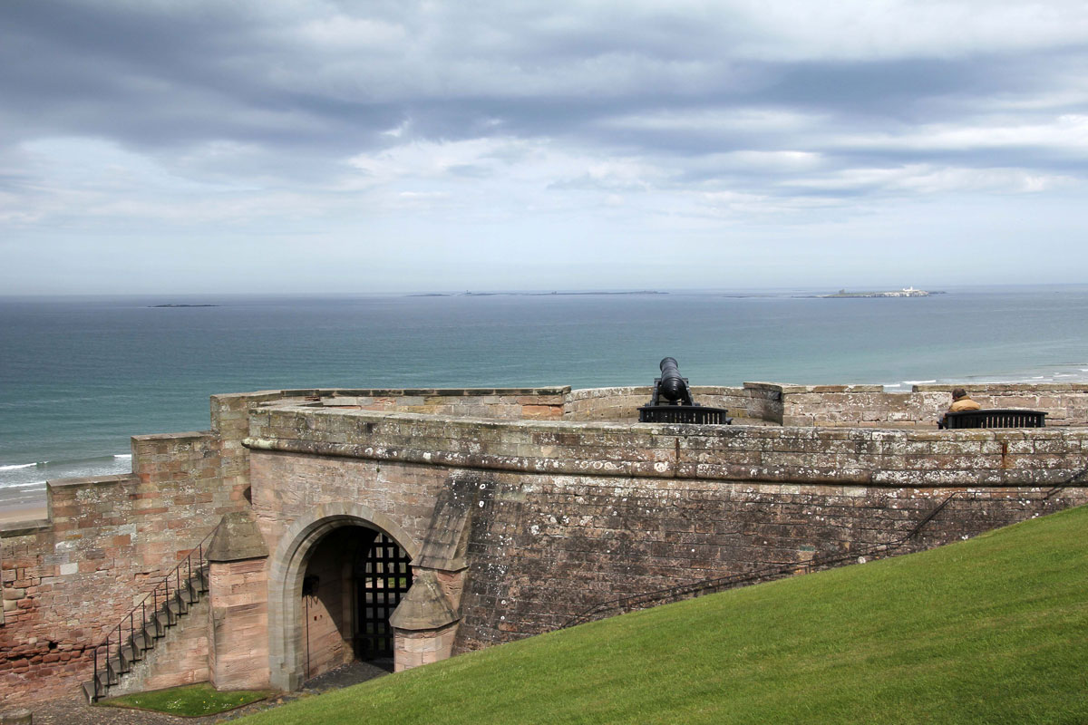 View across the Battery Gate towards the Farne Islands