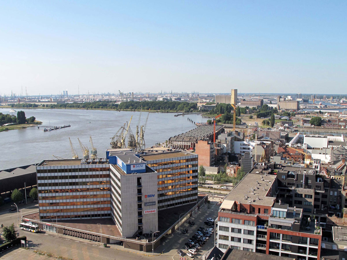 The Old Docks Area and the River Scheldt