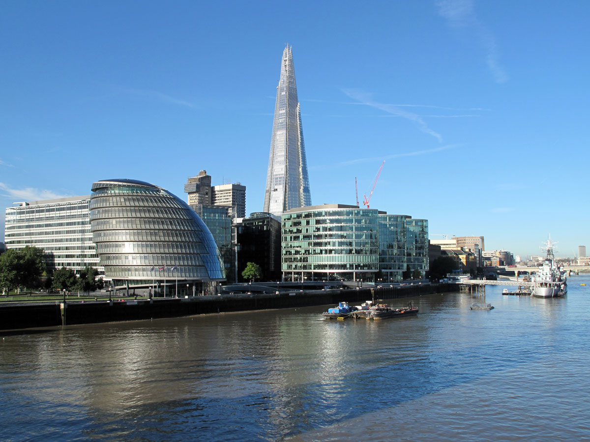 City Hall, More London, and The Shard