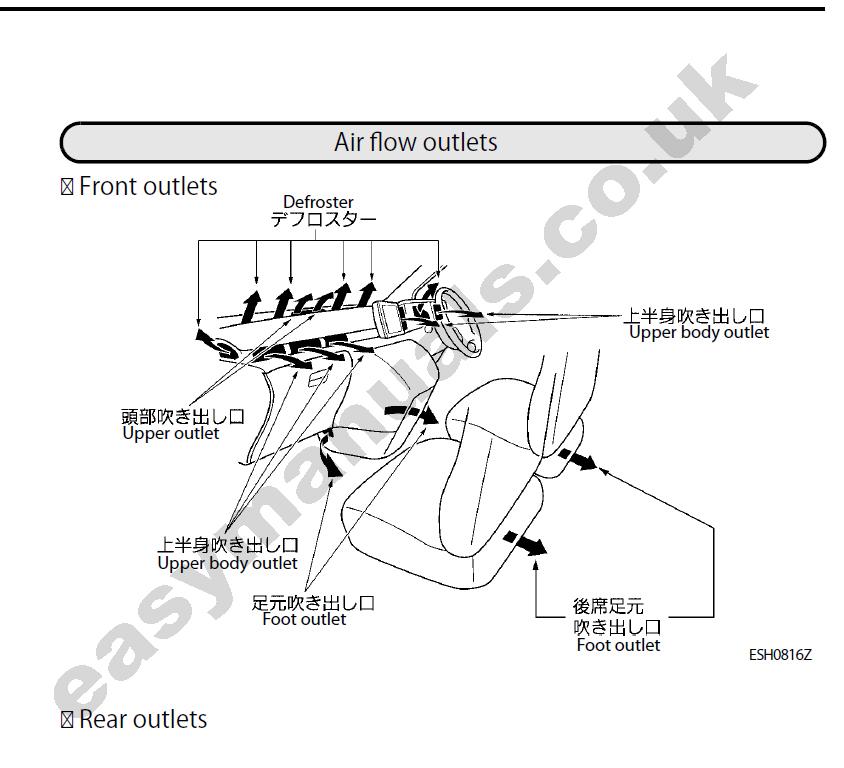 nissan elgrand english owners manual free elgrand user. Black Bedroom Furniture Sets. Home Design Ideas