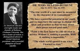 Mary Mcleod Bethune Flashcards