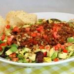 Delicious Easy Taco Salad with Pumpkin Seeds and Avocado