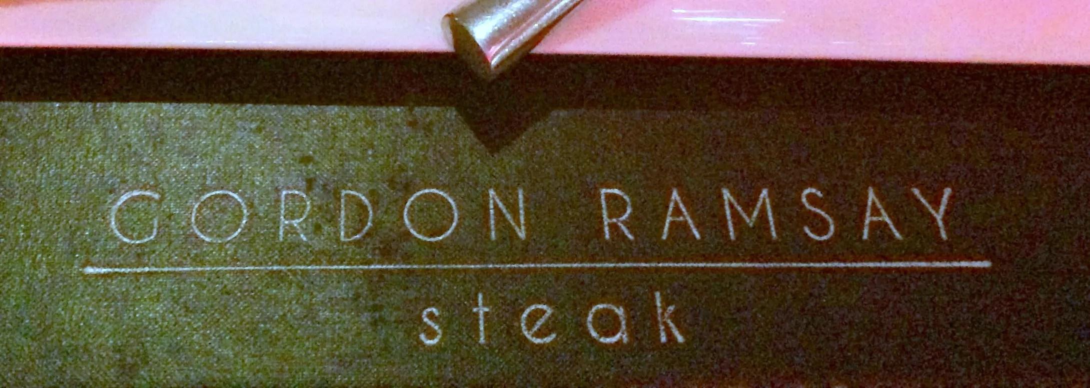 Dinner at Gordon Ramsay's Steak in Las Vegas