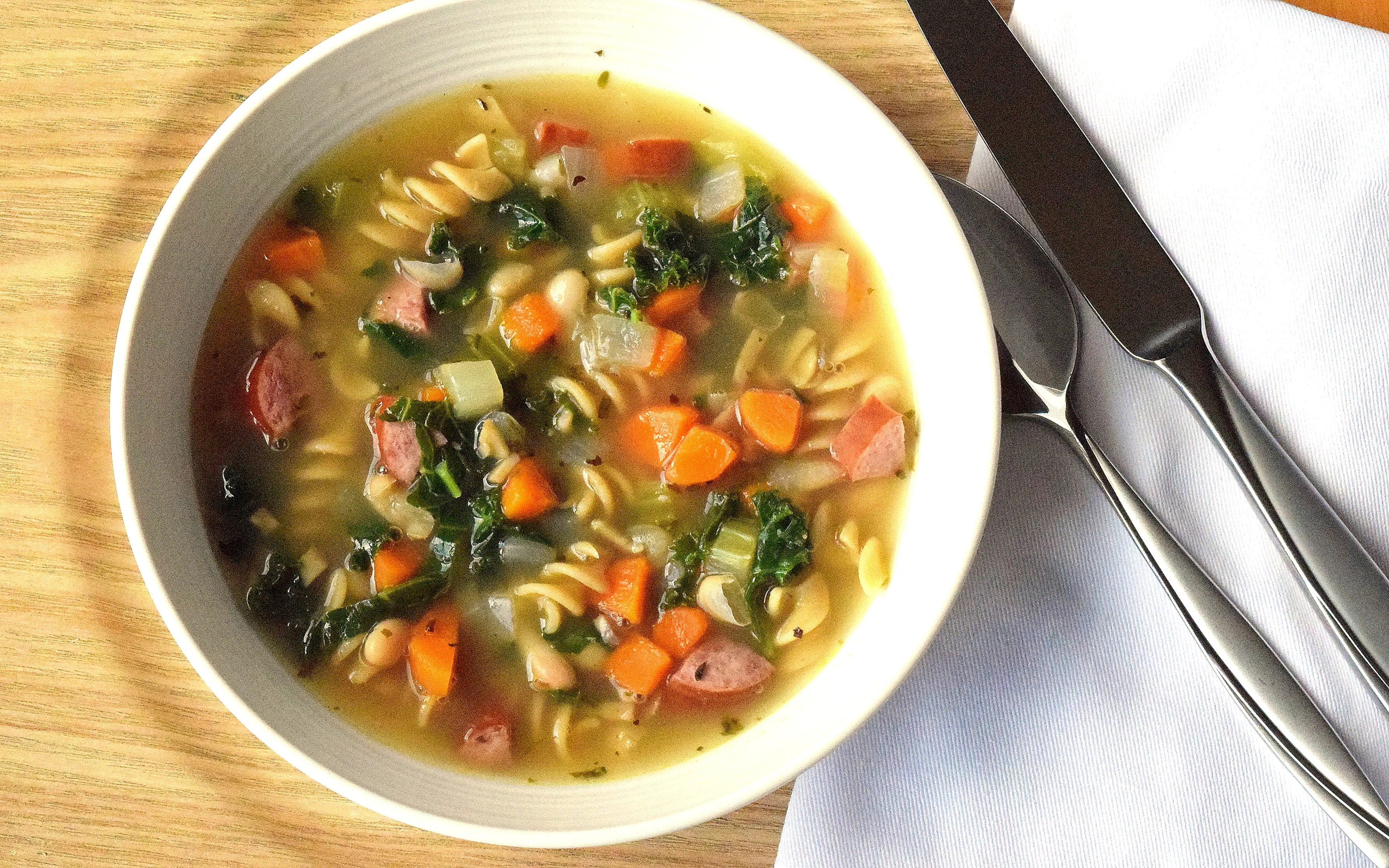 Turkey, Bean and Kale Soup