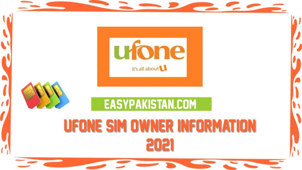 How to Check Ufone Number Owner Name 2021