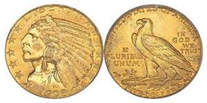 us 5 dollars gold