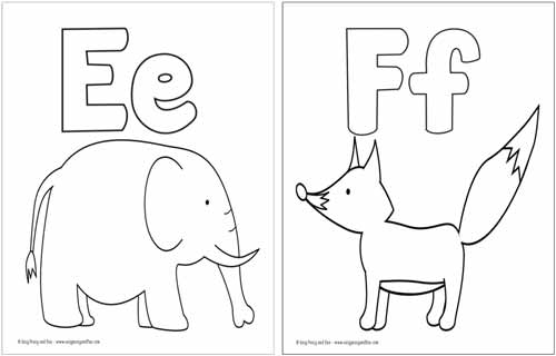 abc coloring page # 17