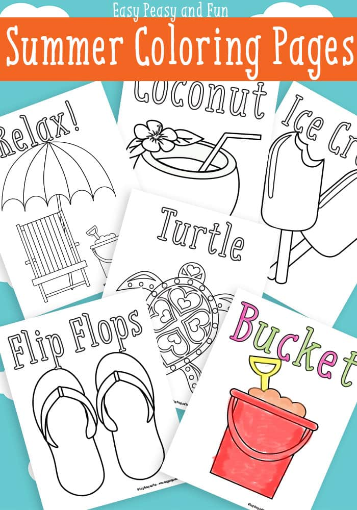 summer coloring pages free printable easy peasy and fun