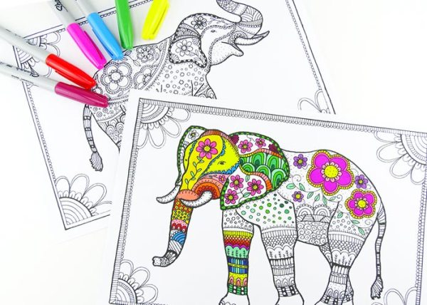 coloring pages of elephants # 75