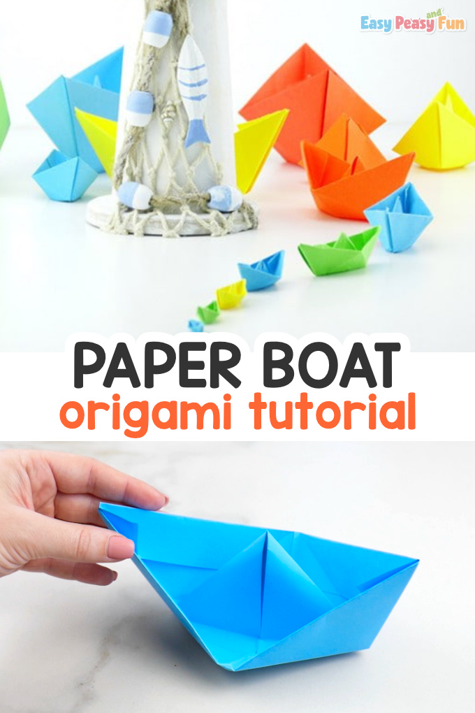 How to Make a Paper Boat Easy Origami Idea