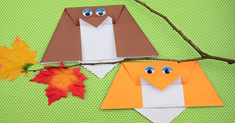 Simple Origami Owl Origami For Kids Easy Peasy And Fun
