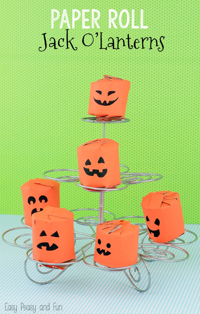 Toilet Paper Roll Pumpkins Easy Peasy And Fun