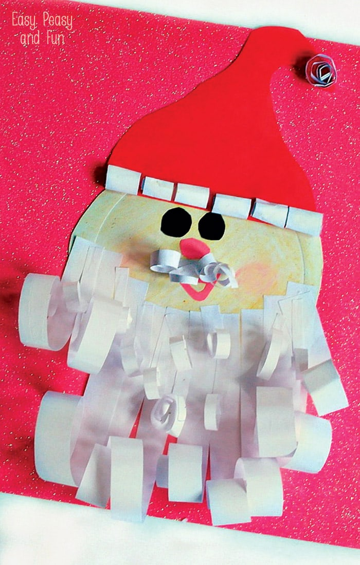 Paper Plate Santa Craft Easy Peasy And Fun