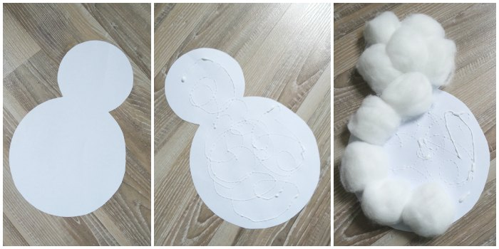 Cotton Ball Snowman Craft Easy Peasy And Fun