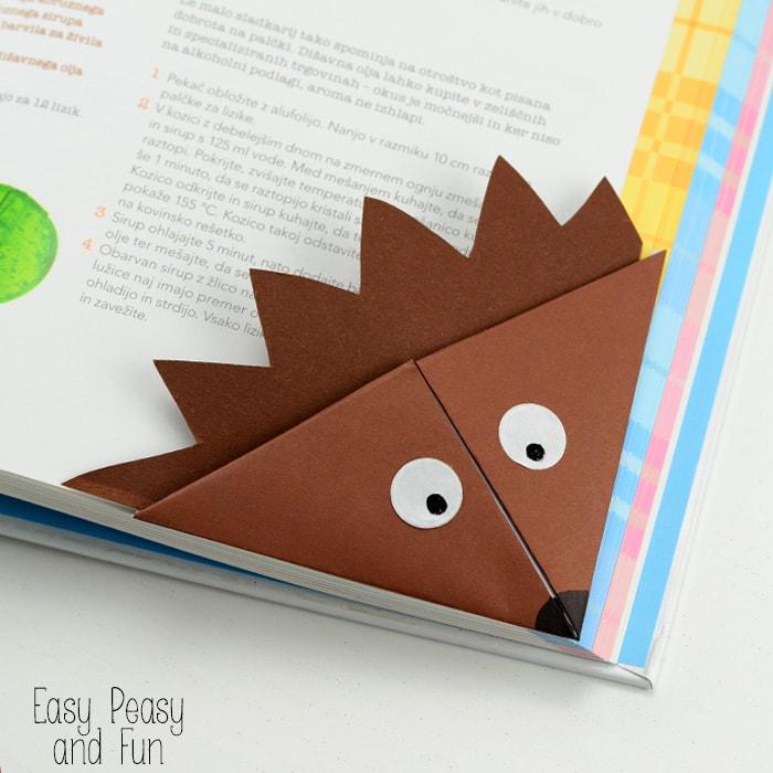 hedgehog corner bookmark