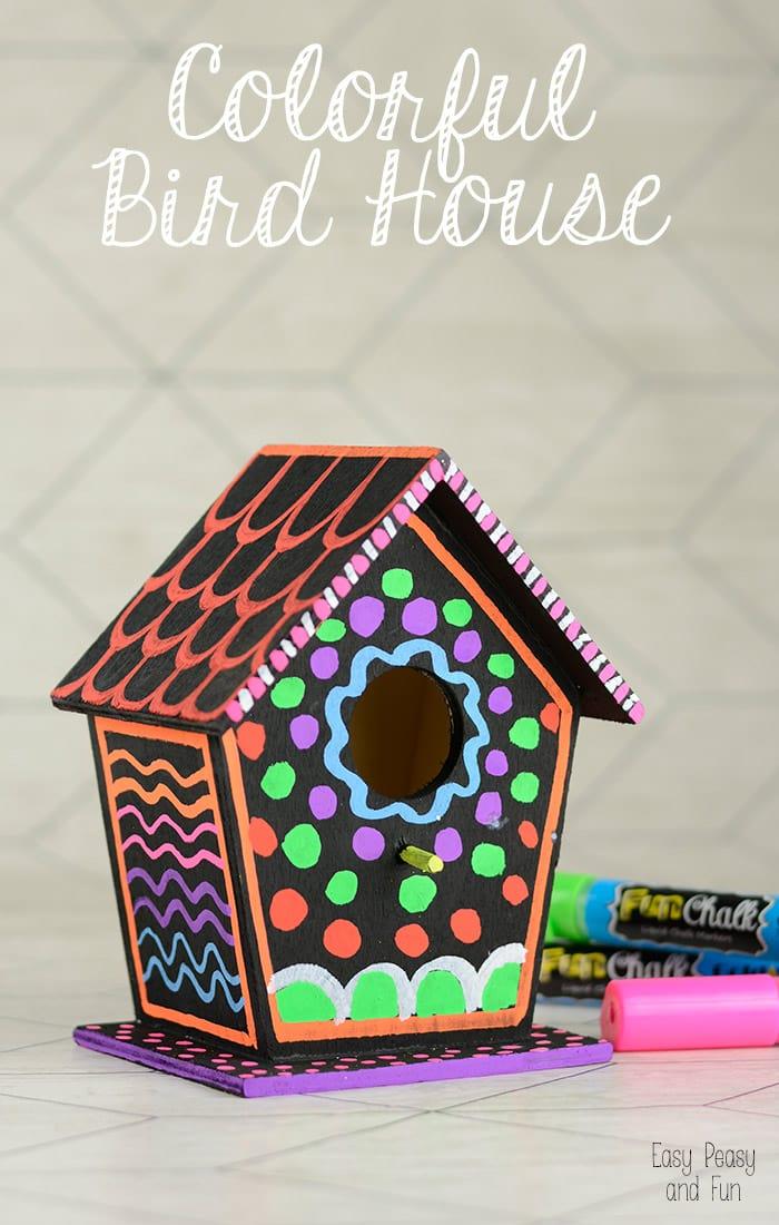 DIY Colorful Bird House Easy Peasy And Fun