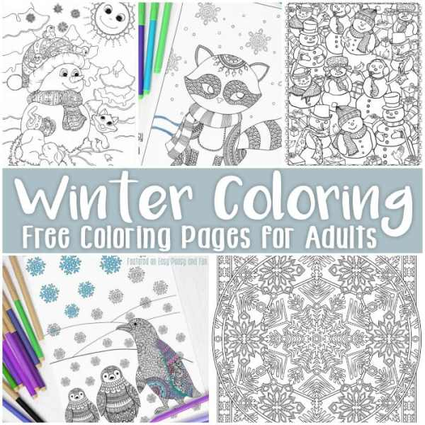 free printable winter coloring pages # 5