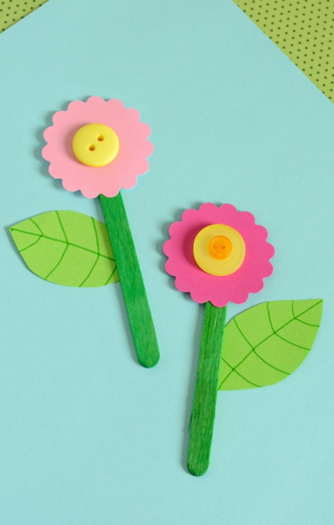 Cute Craft Stick Flower Craft Easy Peasy And Fun