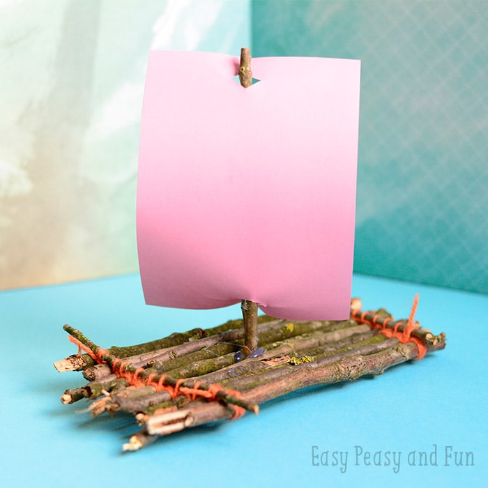 Twig Boat Craft Easy Peasy And Fun