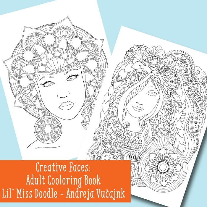 Creative Faces Adult Coloring Book Easy Peasy And Fun