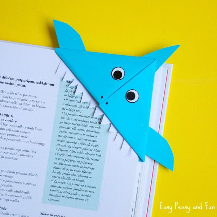 Shark Corner Bookmark Easy Peasy And Fun