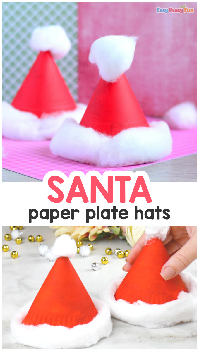Paper Plate Santa Hats Craft Christmas Crafts For Kids Easy Peasy And Fun