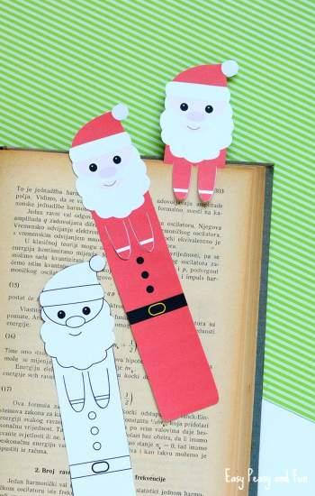 Looking for fun printable Santa activities? Printable Santa Bookmarks - Easy Peasy and Fun || Santa Printables: 10 Fun Games and Activities! || Letters from Santa Holiday Blog