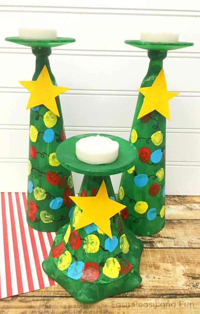 Christmas Tree Candle Holders Kids Can Make Christmas