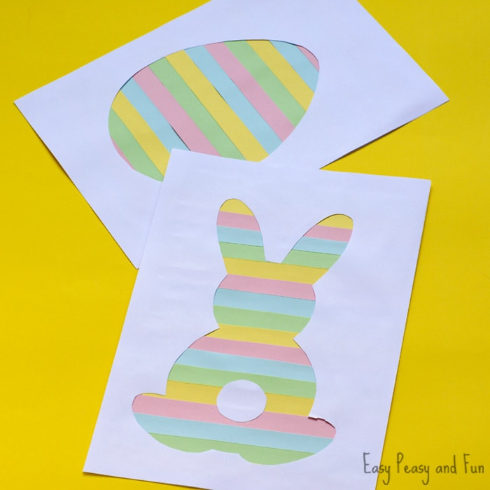 Printable Easter Silhouette Craft Easter Bunny Template