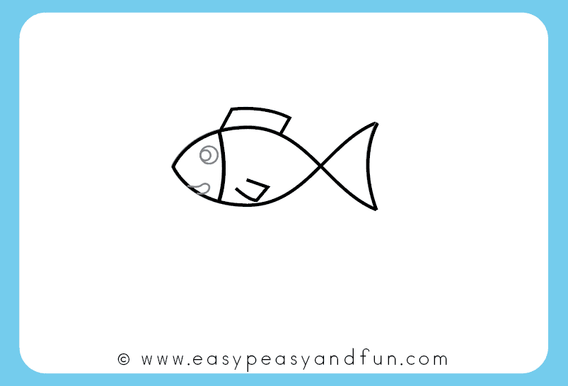 How To Draw A Fish Step By Step Tutorial For Kids Printable Easy Peasy And Fun