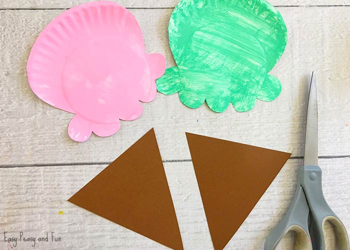 Paper Tulip Flower Craft With Printable Template Easy