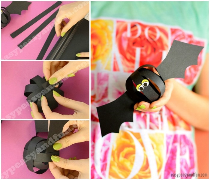 Cute Paper Ball Bat Craft
