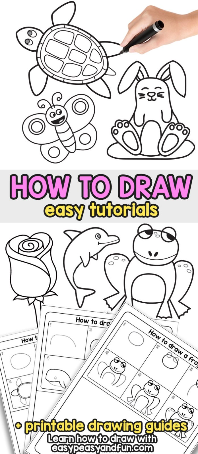 How to Draw - Step by Step Drawing For Kids and Beginners #howtodraw